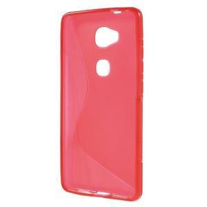S-line gélový obal pre mobil Honor 5X - červený - 2