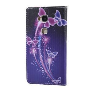 Knížkové puzdro pre mobil Honor 5X - čarovné motýľe - 2