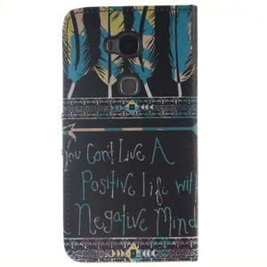 Peňaženkové puzdro pro mobil Honor 5X - quote - 2