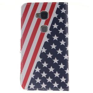 Peňaženkové puzdro pro mobil Honor 5X - US vlajka - 2