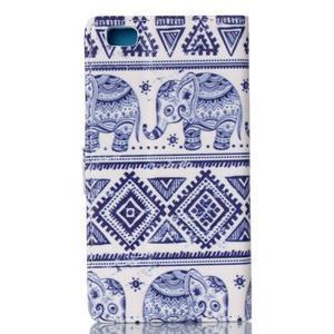 Zapínacie peňaženkové puzdro na Huawei Ascend P8 Lite - sloni - 2