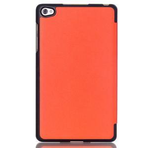 Trifold polohovateľné puzdro na tablet Huawei MediaPad M2 8.0 - oranžové - 2
