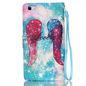 Picture PU kožené pouzdro na Huawei P8 Lite - andělská křídla - 2