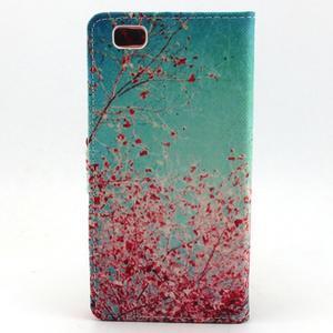 Emotive pouzdro na mobil Huawei P8 Lite - kvetoucí švestka - 2