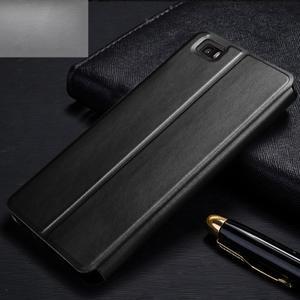Vintage PU kožené pouzdro na Huawei P8 Lite - černé - 2