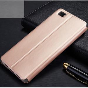 Vintage PU kožené pouzdro na Huawei P8 Lite - zlaté - 2