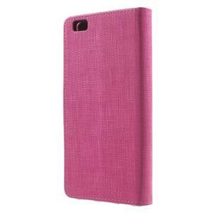 Clothy PU kožené pouzdro na mobil Huawei P8 Lite - rose - 2