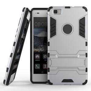 Odolný ochranný kryt na Huawei P8 Lite - stříbrný - 2