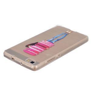 Průhledný gelový obal na Huawei P8 Lite - makrónky - 2
