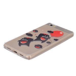 Průhledný gelový obal na Huawei P8 Lite - monsters - 2