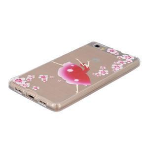 Průhledný gelový obal na Huawei P8 Lite - baletka - 2