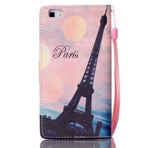 Picture PU kožené pouzdro na Huawei P8 Lite - Eiffelova věž - 2