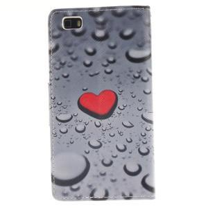 Leathy PU kožené pouzdro na Huawei P8 Lite - srdce - 2