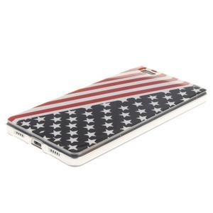 Flexi gelový obal na mobil Huawei P8 Lite - US vlajka - 2