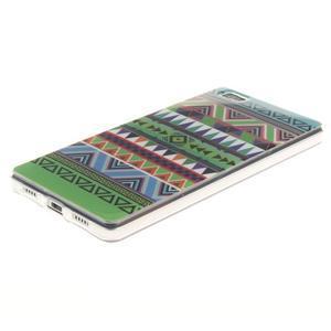 Flexi gelový obal na mobil Huawei P8 Lite - geo tvary - 2