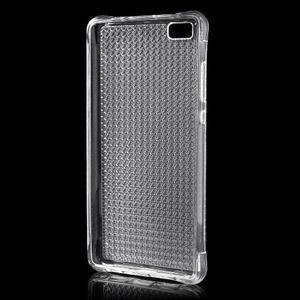 Diamonds gelový obal na Huawei P8 Lite - transparentní - 2