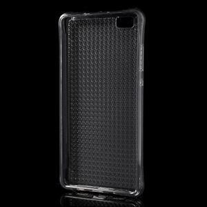 Diamonds gelový obal na Huawei P8 Lite - šedý - 2