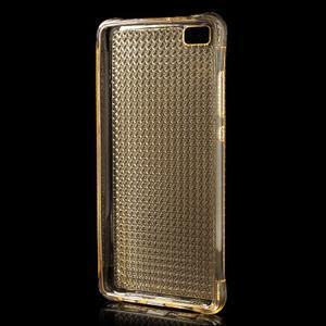 Diamonds gelový obal na Huawei P8 Lite - zlatý - 2