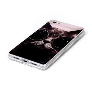Softy gelový obal na mobil Huawei P8 Lite - cool kočka - 2