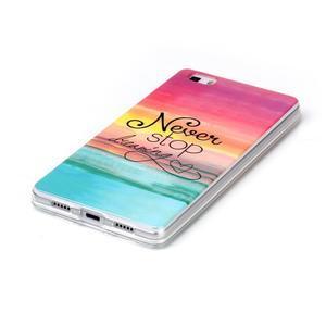 Softy gelový obal na mobil Huawei P8 Lite - nepřestávej snít - 2