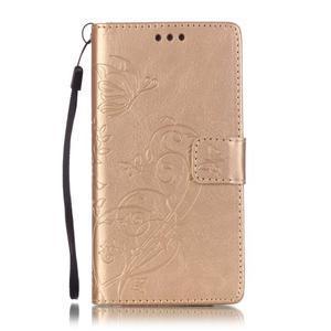 Magicfly PU kožené puzdro na Huawei P8 Lite - zlaté - 2