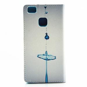 Knížkové pouzdro na mobil Huawei P9 Lite - kapky vody - 2