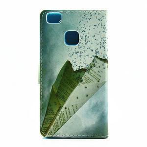 Knižkové puzdro na mobil Huawei P9 Lite - lastovička - 2