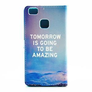 Knižkové puzdro na mobil Huawei P9 Lite - tomorrow - 2
