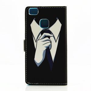 Knížkové pouzdro na mobil Huawei P9 Lite - muž v kravatě - 2
