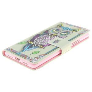 Floaty peněženkové pouzdro na mobil Huawei P9 Lite - sovička - 2