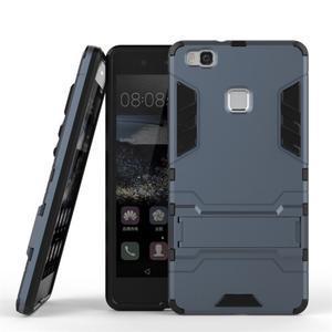 Odolný obal na mobil Huawei P9 Lite - šedomodrý - 2