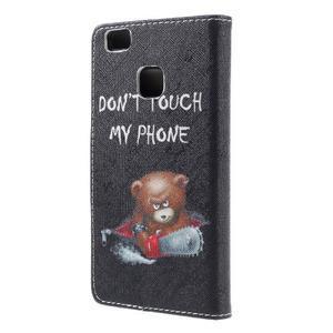 Richi PU kožené puzdro na Huawei P9 Lite - medvedík - 2