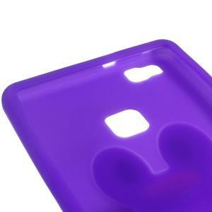 Silikonový obal na mobil Huawei P9 Lite - fialový - 2