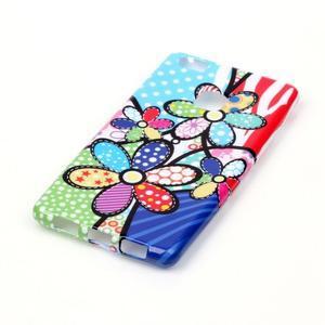 Emotive gelový obal na mobil Huawei P9 Lite - barevné květiny - 2