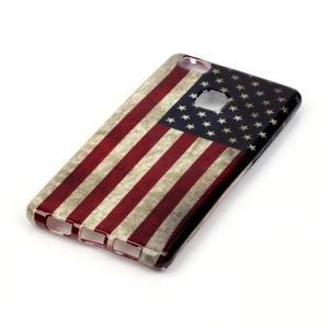Emotive gelový obal na mobil Huawei P9 Lite - US vlajka - 2