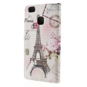 Richi PU kožené puzdro na Huawei P9 Lite - Eiffelova veža - 2