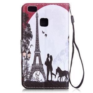 Emotive pouzdro na mobil Huawei P9 Lite - láska pod Eiffelovkou - 2
