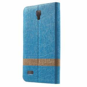 Lines knížkové pouzdro na Huawei Y5 a Y560 - modré - 2