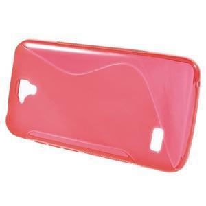 S-line gelový obal na mobil Huawei Y5 a Y560 - červený - 2