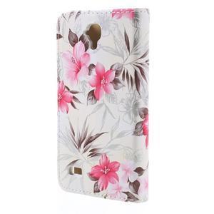 Kvetinové puzdro na Huawei Y5 a Y560 - biele pozadie - 2