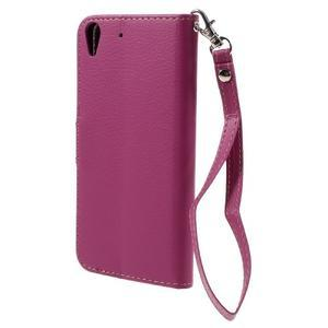 Leaf PU kožené pouzdro na mobil Huawei Y6 - rose - 2