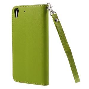 Leaf PU kožené pouzdro na mobil Huawei Y6 - zelené - 2