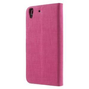 Clothy PU kožené pouzdro na Huawei Y6 - rose - 2