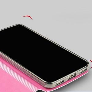Vintage PU kožené pouzdro na mobil Huawei Y6 - růžové - 2