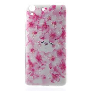 Softy gelový obal na mobil Huawei Y6 - květy svěstky - 2