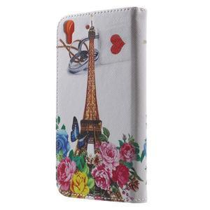 Emotive pouzdro na mobil Huawei Y6 - květiny a Eiffelka - 2
