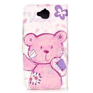Knížkové pouzdro na mobil Huawei Y6 Pro - medvídek - 2