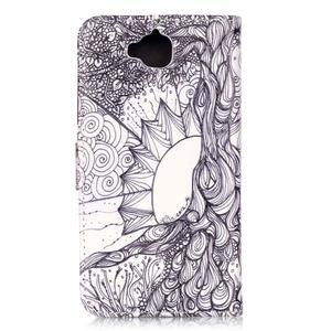 Knížkové pouzdro na mobil Huawei Y6 Pro - kresba - 2