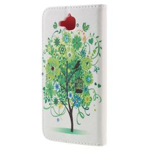 Emotive peněženkové pouzdro na mobil Huawei Y6 Pro - zelený strom - 2