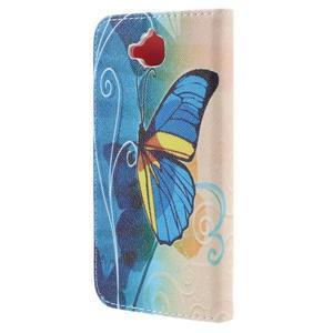 Emotive peňaženkové puzdro na mobil Huawei Y6 Pro - modrý motýľ - 2